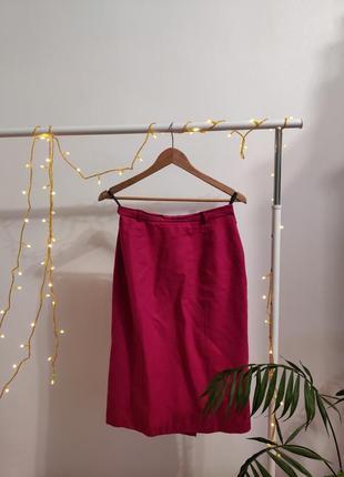 Шерстяная юбка карандаш