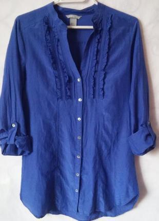 H&m! хлопок/шелк! рубашка-платье