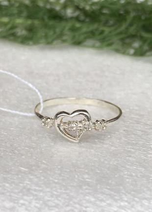 Кольцо серебряное сердечко 1026 0008