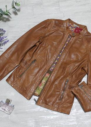 Стильная кожаная куртка street one размер 38