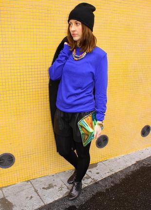 Sale -100грн!!! женский свитер лонгслив синего цвета 100% хлопок cos
