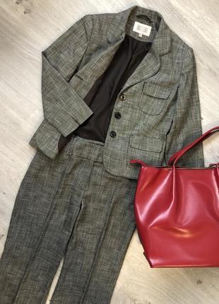Очень стильный брючный костюм next . р.44-46 брюки укороченные капри кюлоты пиджак