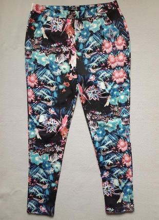 Крутые брюки в цветочный принт сзади молнии высокая посадка opus london