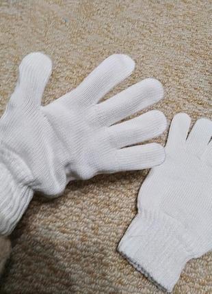 💰🎀💰перчатки белые белоснежные качественные на большую руку