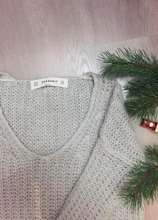 Удлиненный свитер платье zara