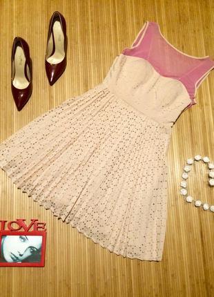 Очень красивое пудровое платье бюстье,размер s