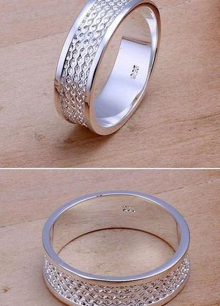 Колечко чоловіче fashion 19 мм (кольцо мужское) срібло 925