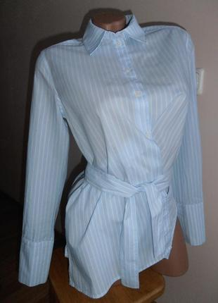 Оригинальная рубашка в полоску с запахом, h&m