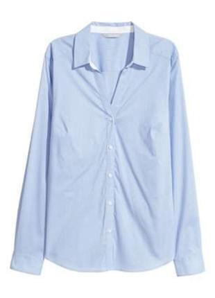 Базовая рубашка в мелкую полосочку, h&m