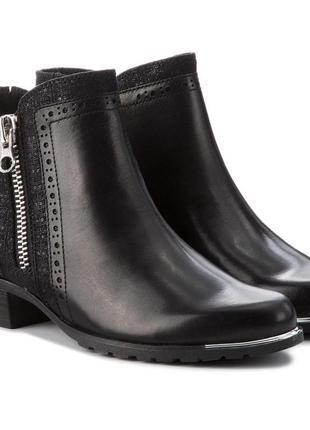 Кожаные полусапоги ботинки caprice