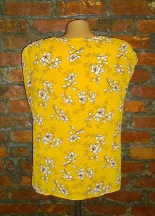 Топ блуза кофточка с цветочным принтом papaya3 фото