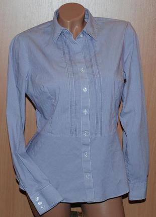 Рубашка от marks & spencer / хлопок/приталена/