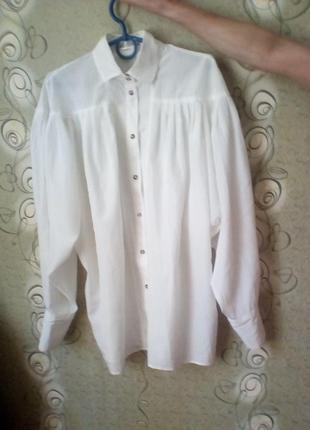 Винтажная белая блуза,рр.с-м.