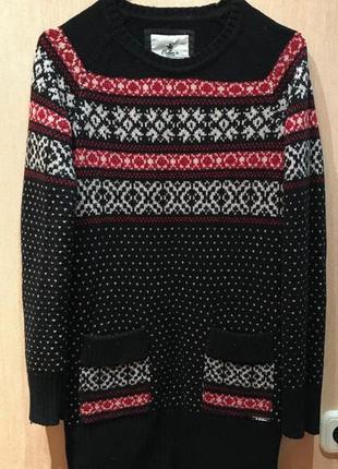 Теплый оригинальный свитер colin's