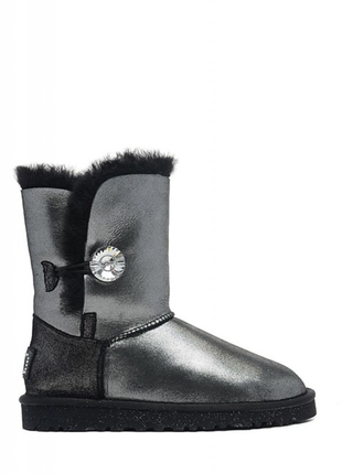 Женские угги ugg bailey button ii boot leather i do black р.36-40