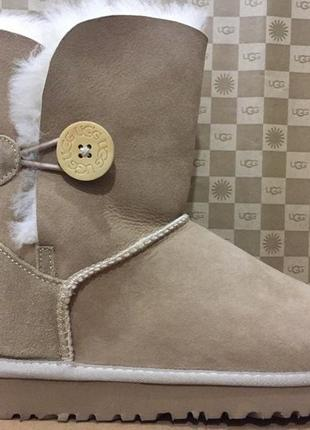 Женские угги ugg bailey button ii boot chestnut р.36-41