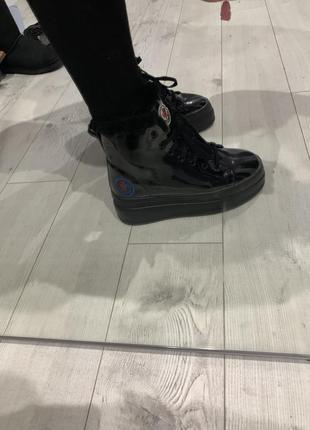 Ботинки зимние кожаные на цегейке
