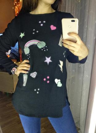 Удаленный свитерок с рисунком от h&m