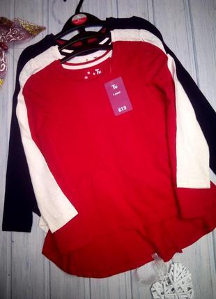Нарядный реглан, блузка jersey с кружевами, 3 шт., все разные, бирка, tu, 110- 1161