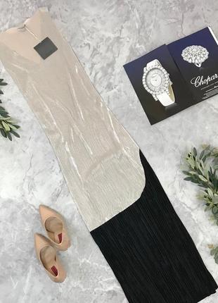 Нарядное платье-плиссе с переходом длины миди  dr1851023 zara
