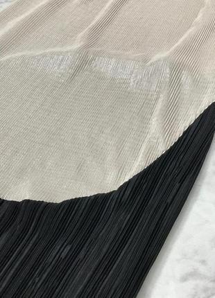 Нарядное платье-плиссе с переходом длины миди  dr1851023 zara3 фото