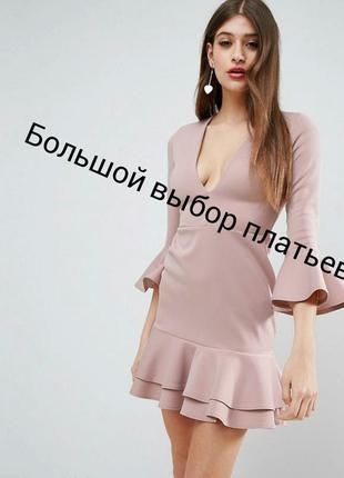 Мини платье asos с рукавами клеш, р-р 10