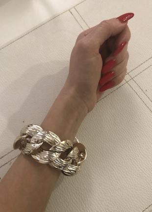 Шикарный браслет под золото zara. бижутерия