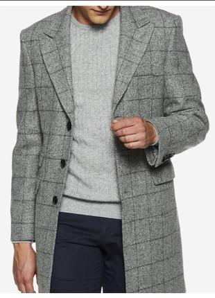 Обалденное мужское 100% шерстяное пальто премиум бренда vistula!