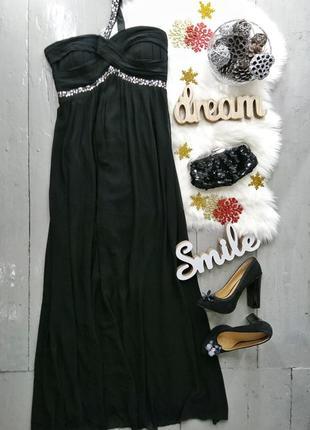 Шикарное вечернее платье в пайетках №564