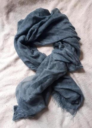 Огромная шаль палантин из мохера невесомая и теплая