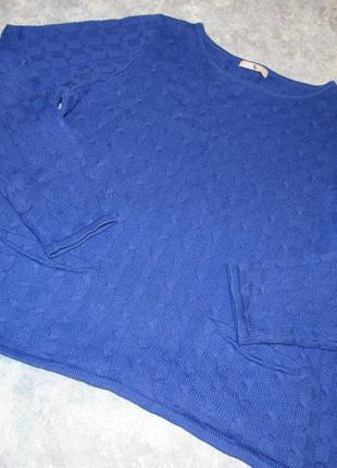 Тонкий джемпер свитер с косами от tu р.16 xxl. лучшая цена!