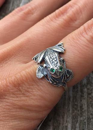 Кольцо серебряное жабка 1251