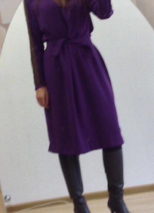 Вечернее стильное платье миди .