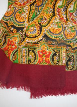 Мужской кашне шерстяной шарф классический ретро3 фото