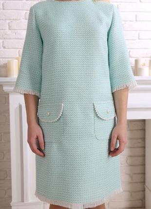 Ніжна твідова сукня