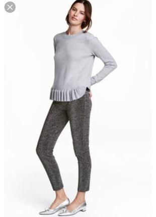 Легенцы, лосины, узкие штаны, блестящие с метализированным волокном. размер 34