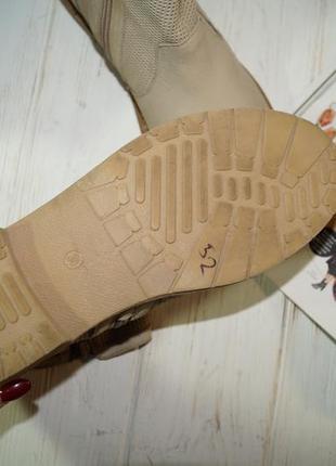 (38/24,5см) кожа/нубук. классные ботинки на низком ходу3 фото