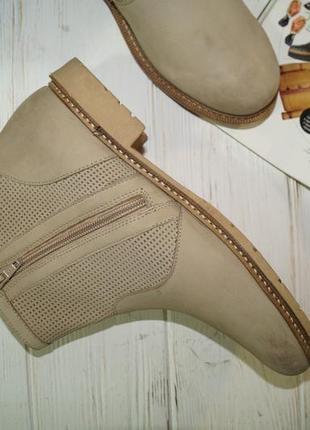 (38/24,5см) кожа/нубук. классные ботинки на низком ходу5