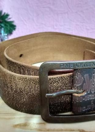 Кожаный фирменный ремень pme legend