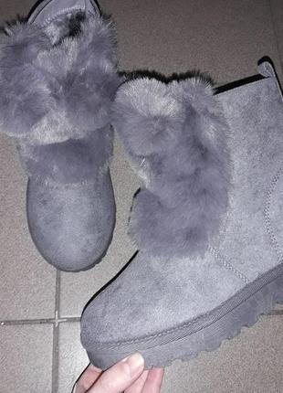 С 36 по 41 рр полусапожки ушки угги зимние ботинки жіночі зимові  зима женские