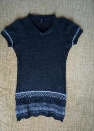 Теплое шерстяное платье свитер, шерсть, мохер