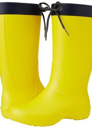 Crocs w6(36-37) 23,5см резиновые сапоги крокс freesail желтые