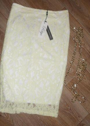 Новая шикарная юбка гипюровая