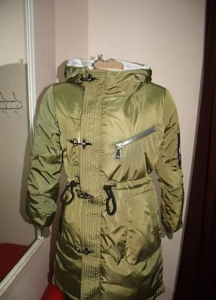 Курточка стильная куртка парка зимняя зима  размер: м