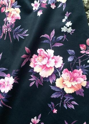 Цветочная юбка миди карандаш4