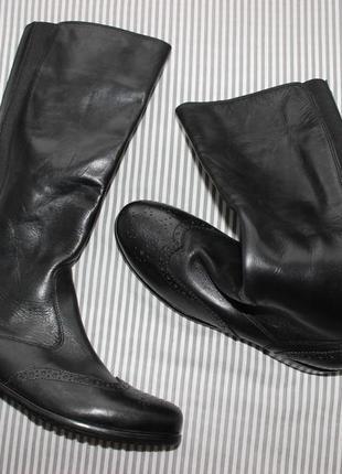 Ara кожаные стильные сапоги, оксфорды утепленные флисовым мехом