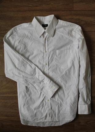 Классическая белоснежная рубашка  hugo boss размер хл