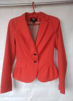 Стильный  пиджак h&m 34\42\xs