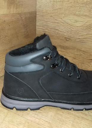 Зимние ботинки мужские tm restime!!! одна ростовка р. 41-45 чёрные и синие