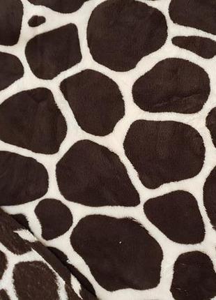 Стильный плед-покрывало, жираф, размер: 180х220 см.
